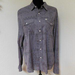 UO Salt Valley Western shirt Grey floral Large